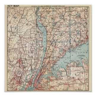 Map of Westchester County, New York Poster