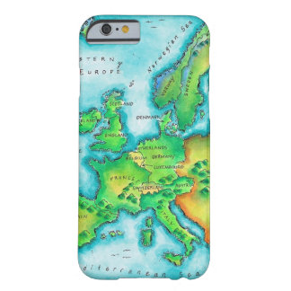 Map of Western Europe Barely There iPhone 6 Case