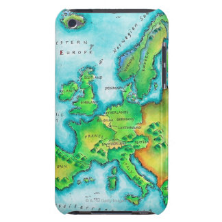 Map of Western Europe iPod Case-Mate Cases
