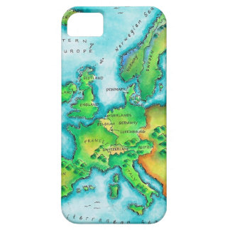 Map of Western Europe iPhone 5 Covers
