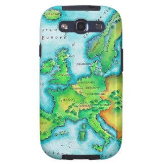 Map of Western Europe Samsung Galaxy SIII Case