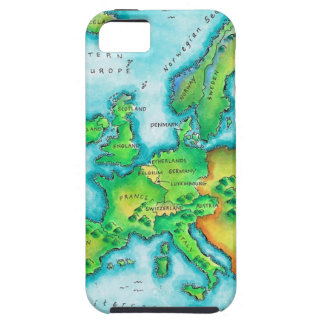 Map of Western Europe iPhone 5 Cover
