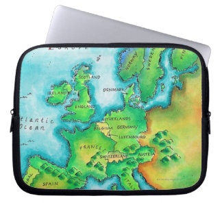 Map of Western Europe Laptop Sleeve
