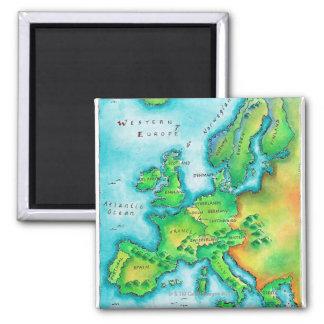 Map of Western Europe Fridge Magnet