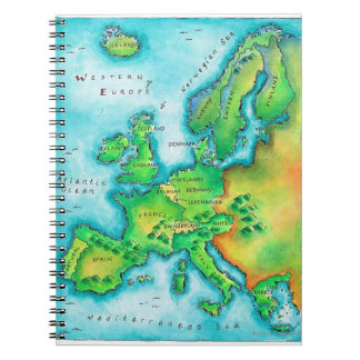 Map of Western Europe Notebooks