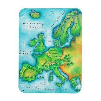 Map of Western Europe Rectangular Photo Magnet