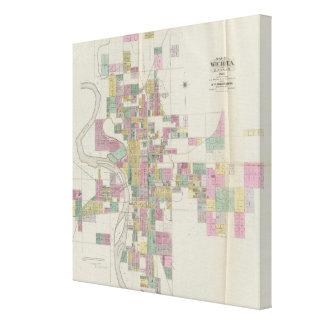 Map of Wichita, Kansas Canvas Print