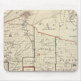 Map of Wisconsin Mouse Pads