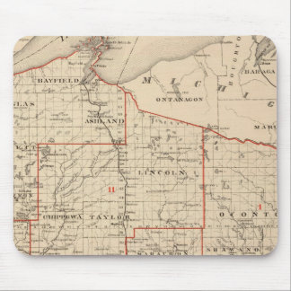 Map of Wisconsin showing senatorial districts Mouse Pad