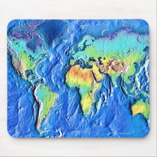 Map of world mouse pad