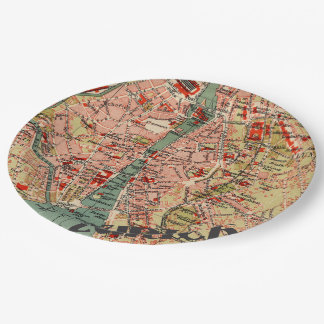 Map of Zurich 9 Inch Paper Plate