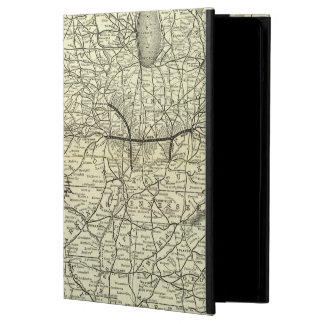 Map Ohio and Mississippi Railway iPad Air Cases
