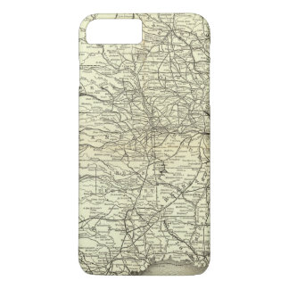Map Ohio and Mississippi Railway iPhone 7 Plus Case