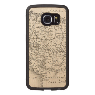 MAP: PANNONIA WOOD PHONE CASE