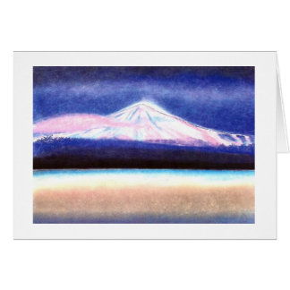 "Map Pastell kind motive ""dream of the Teide "" Card"