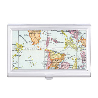 MAP: PHILIPPINES, 1905 BUSINESS CARD HOLDER