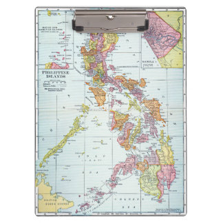 MAP: PHILIPPINES, 1905 CLIPBOARDS