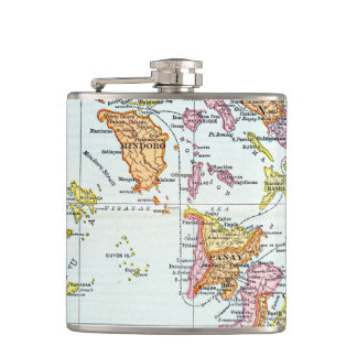 MAP: PHILIPPINES, 1905 FLASK