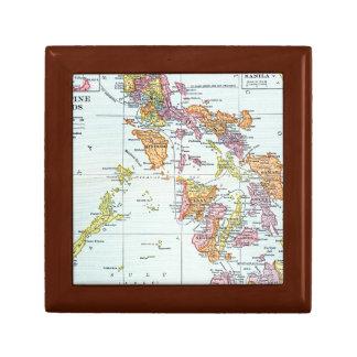 MAP: PHILIPPINES, 1905 KEEPSAKE BOX