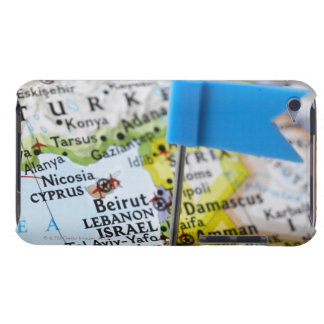 Map pin placed in Jerusalem, Israel on map, iPod Case-Mate Cases