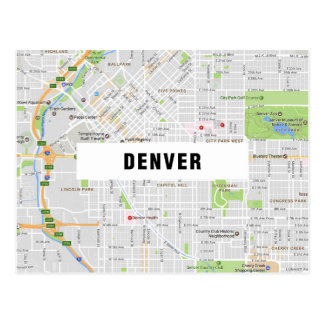 MAP POSTCARDS ♥ Denver