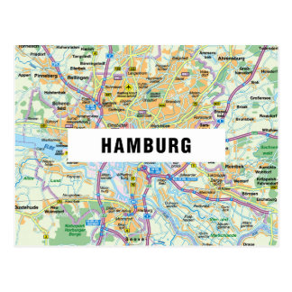 MAP POSTCARDS ♥ Hamburg