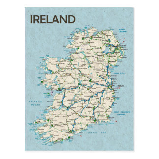 MAP POSTCARDS ♥ Ireland