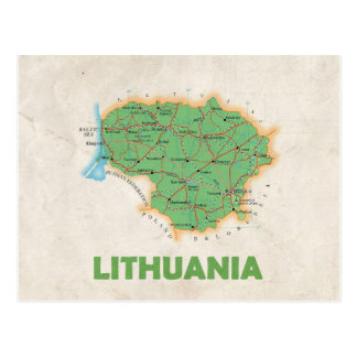 MAP POSTCARDS ♥ Lithuania