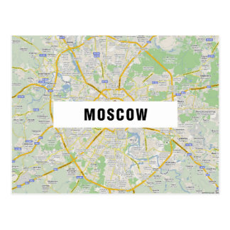 MAP POSTCARDS ♥ Moscow