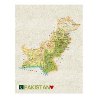 MAP POSTCARDS ♥ Pakistan