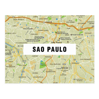 MAP POSTCARDS ♥ Sao Paulo