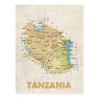 MAP POSTCARDS ♥ Tanzania