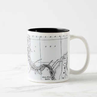 Map Proposed Isthmian Canal Routes Two-Tone Coffee Mug