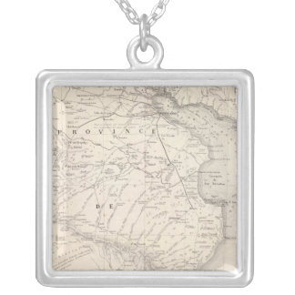 Map, Province of Buenos Aires, neighboring regions Square Pendant Necklace
