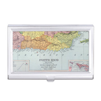 MAP: PUERTO RICO, 1900 BUSINESS CARD CASE