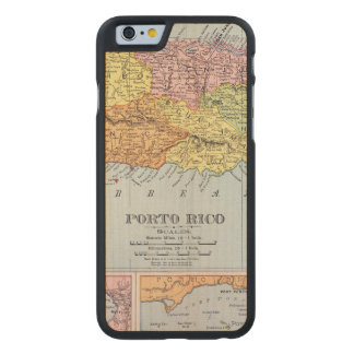 MAP: PUERTO RICO, 1900 CARVED® MAPLE iPhone 6 CASE