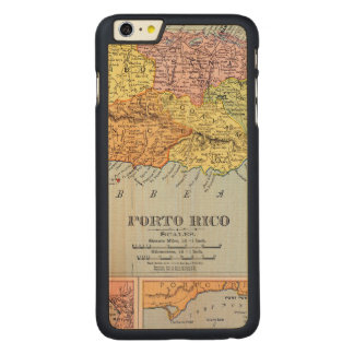 MAP: PUERTO RICO, 1900 CARVED® MAPLE iPhone 6 PLUS CASE
