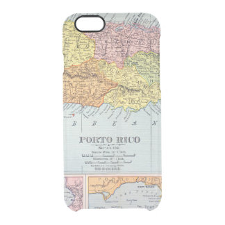 MAP: PUERTO RICO, 1900 CLEAR iPhone 6/6S CASE