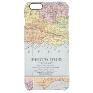 MAP: PUERTO RICO, 1900 CLEAR iPhone 6 PLUS CASE