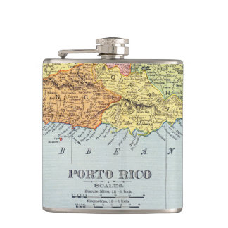 MAP: PUERTO RICO, 1900 FLASK