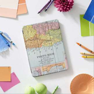 MAP: PUERTO RICO, 1900 iPad AIR COVER