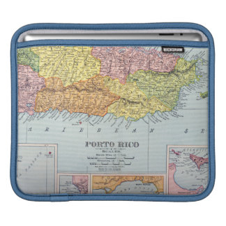 MAP: PUERTO RICO, 1900 iPad SLEEVE