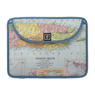 MAP: PUERTO RICO, 1900 SLEEVE FOR MacBook PRO