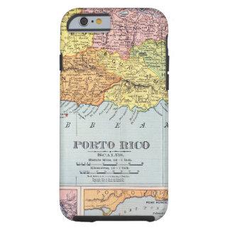 MAP: PUERTO RICO, 1900 TOUGH iPhone 6 CASE