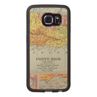MAP: PUERTO RICO, 1900 WOOD PHONE CASE