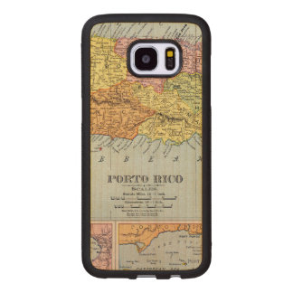 MAP: PUERTO RICO, 1900 WOOD SAMSUNG GALAXY S7 EDGE CASE