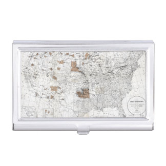 MAP: RESERVATIONS, 1888 BUSINESS CARD CASE