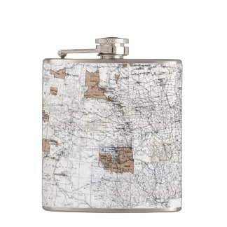 MAP: RESERVATIONS, 1888 FLASK