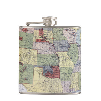 MAP: RESERVATIONS, 1892 FLASK