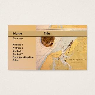 map / sea / navigation / sailing business card